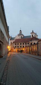 Street view in Vilnius.